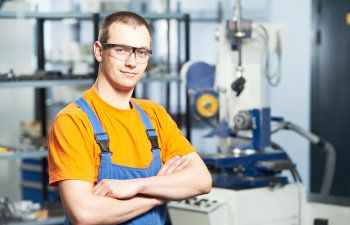 young man experienced industrial worker